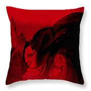 The Guests Arrive Throw Pillow