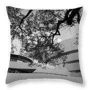 The Gugenheim In Black And White Throw Pillow