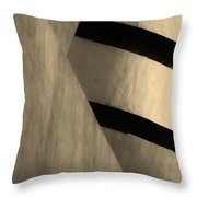 The Guggenheim In Sepia Throw Pillow