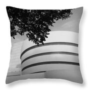 The Guggenheim Museum In Black And White Throw Pillow