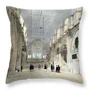 The Guildhall, Interior, From London As Throw Pillow