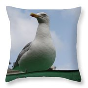 The Gull On The Roof Throw Pillow