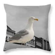 The Gull Throw Pillow