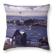 The Gulls Of Monhegan Throw Pillow