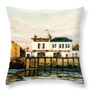 The Gun Public House Isle Of Dogs London Throw Pillow