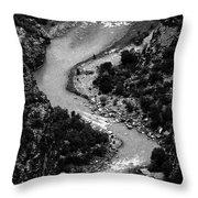 The Gunnison Bw Throw Pillow