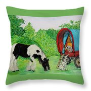 The Gypsies Throw Pillow