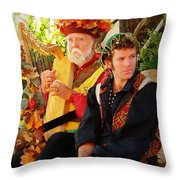 The Gypsy And The Minstrel Throw Pillow