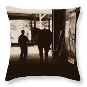 The Hall Of Champions Throw Pillow by Deborah Fay