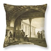 The Hall Of Mirrors In The Palace Throw Pillow by Grigori Grigorevich Gagarin