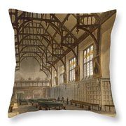 The Hall Of Trinity College, Cambridge Throw Pillow
