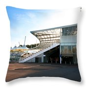 The Hampshire County Cricket Club Pavilion Throw Pillow