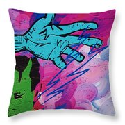 The Hand Of Frankenstein Throw Pillow