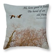 The Hand Of Friendship Throw Pillow