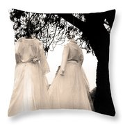 The Hanging Brides  Throw Pillow