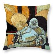 The Happy Buddha Throw Pillow