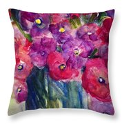 The Happy Bunch Throw Pillow