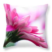 The Happy Flower Pink Daisy Throw Pillow