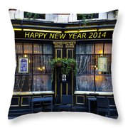 The Happy New Year 2014 Pub Throw Pillow