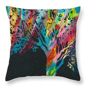 The Happy Tree Throw Pillow