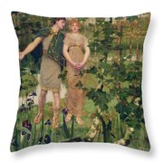 The Happy Valley, 1898 Throw Pillow