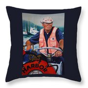 The Harbor Master Throw Pillow