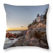 The Harbor Sunset Throw Pillow