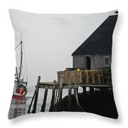 The Harbour Mist Throw Pillow