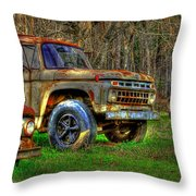 The Hard Headed Ford Work Horses. Throw Pillow