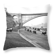 The Harlem River Speedway Throw Pillow