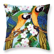 The Harlerquin Hand Embroidery Throw Pillow