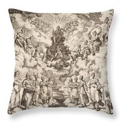 The Harmony Of The Spheres Throw Pillow