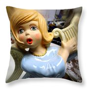 The Harpist Throw Pillow