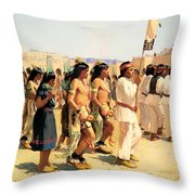 The Harvest Dance Throw Pillow