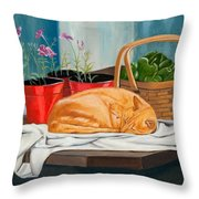 The Harvest Helper Throw Pillow