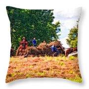 The Harvest Impasto Throw Pillow