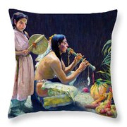 The Harvest Song Throw Pillow