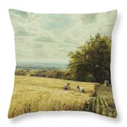 The Harvesters Throw Pillow by Edmund George Warren