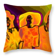 The Hat Sisters Throw Pillow
