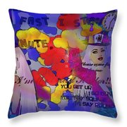 The Hatter Throw Pillow