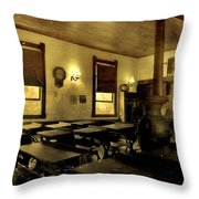 The Haunted Classroom Throw Pillow