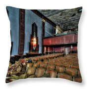 The Haunted Cole Theater Throw Pillow