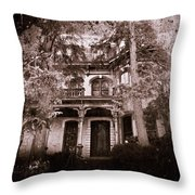 The Haunting Throw Pillow by David Dehner