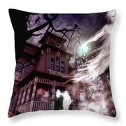 The Haunting Of Blackthorne Manor  Throw Pillow