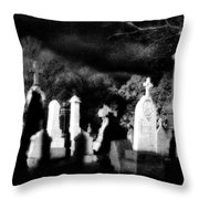 The Haunting Shadows Throw Pillow