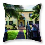 The Hawaiian Palace Throw Pillow