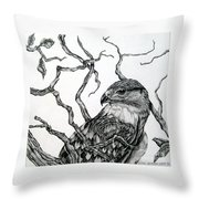 The Hawk Throw Pillow