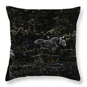 the Hawk and the Paso Fino Throw Pillow