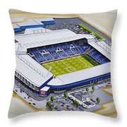 The Hawthorns - West Bromwich Albion Fc Throw Pillow