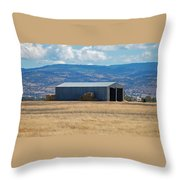 The Hay Shed Throw Pillow